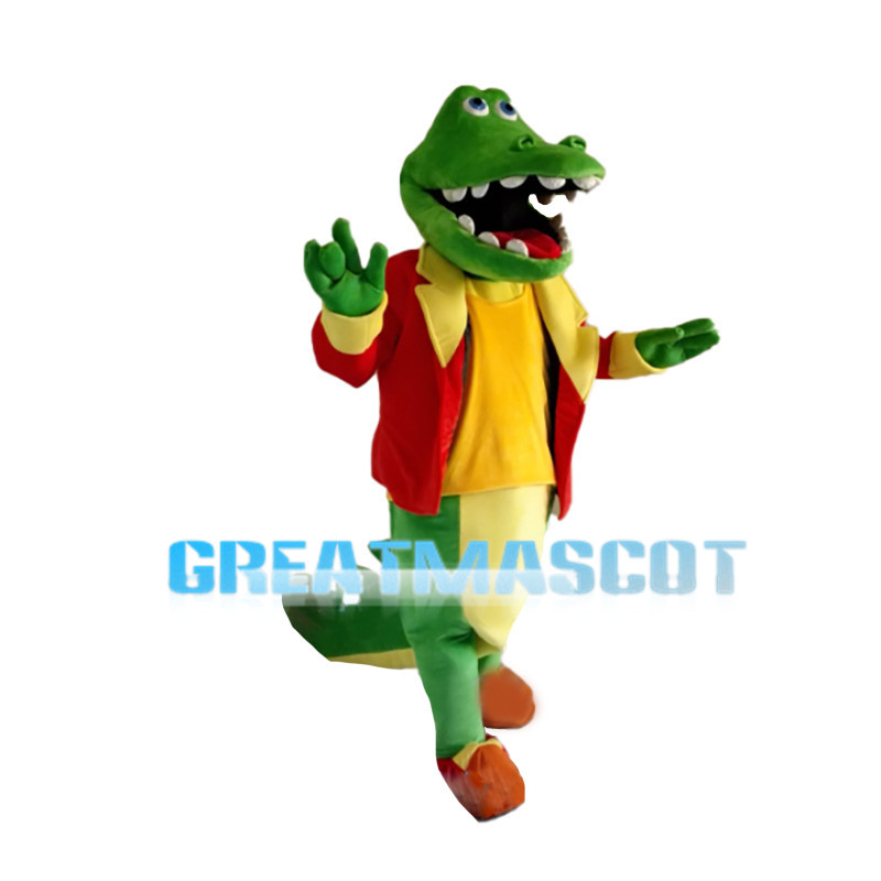 Crocodile Wearing Red Coat Mascot Costume