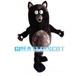 Confused Black Raccoon Mascot Costume