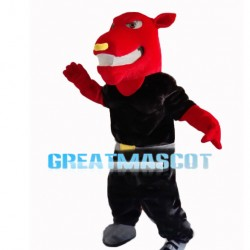 Powerful Sports Red Tiger Mascot Costume