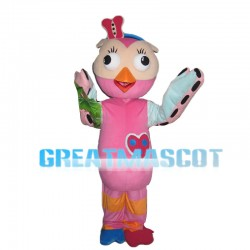 Likable Pink Bird Mascot Costume