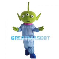 Three Eyes Green Monster Mascot Costume