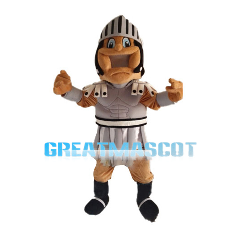 Thrilled Manly Soldier Mascot Costume