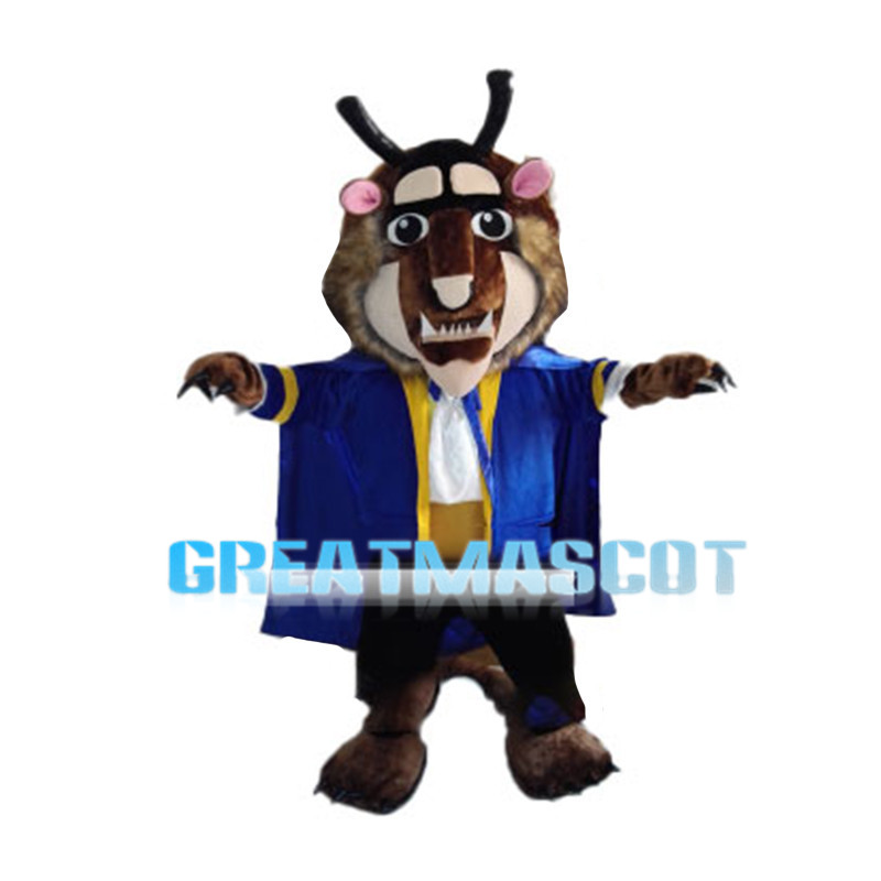 Ugly Monster With Blue Coat Mascot Costume