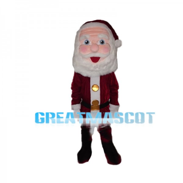 Santa Claus With Buttons Coat Mascot Costume