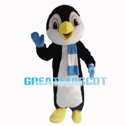 Agreeable Nice Penguin With Scarf Mascot Costume