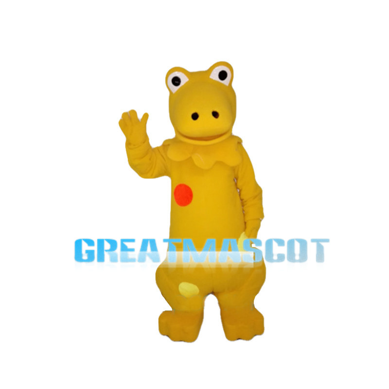 Yellow Frog With Red Dot Mascot Costume