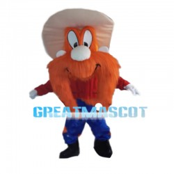 Dwarf With Full Face Orange Hair Mascot Costume