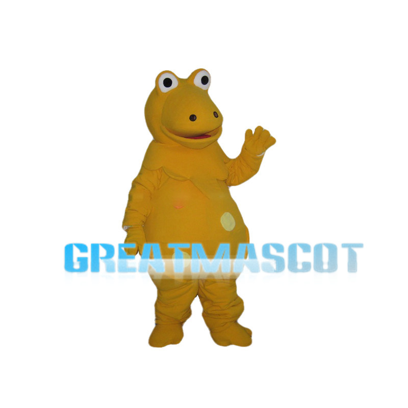 Fat Yellow Frog Mascot Costume
