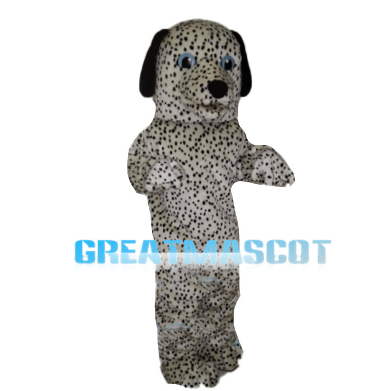 Dense Spots Dog With Blue Eyes Mascot Costume