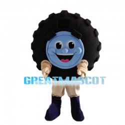 Black Car Tire Mascot Costume