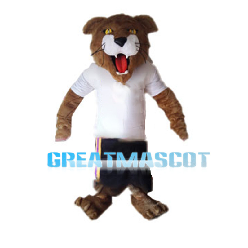 Tiger Wearing Sports Set Mascot Costume