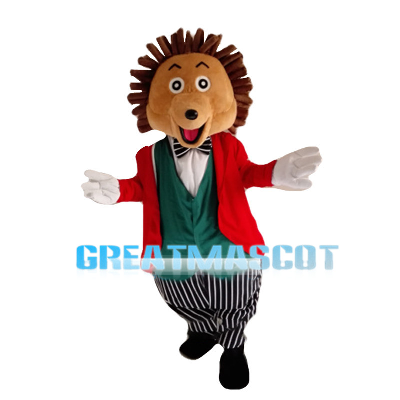 Hedgehog With Dress Suit Mascot Costume