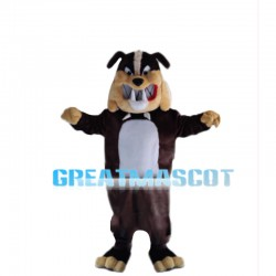 Evil Bulldog With Sharp Teeth Mascot Costume