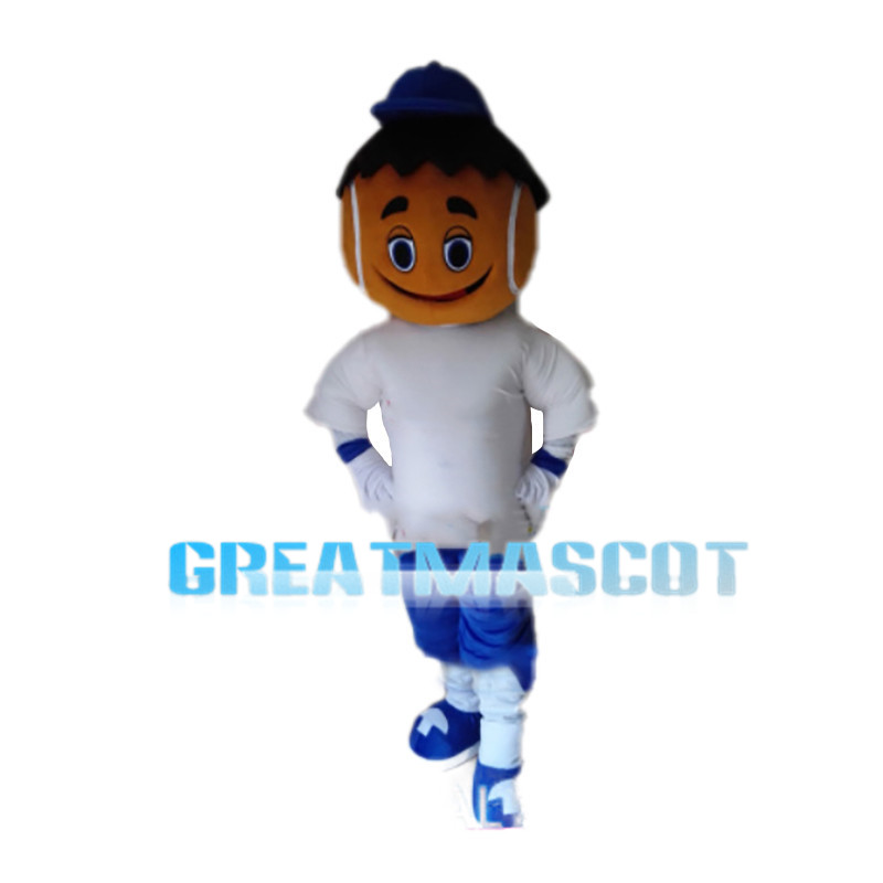 Black Hair Playing Child Mascot Costume