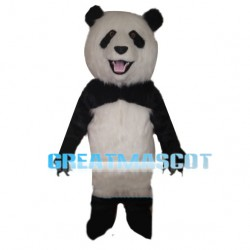 Cheerful Bright Panda Mascot Costume