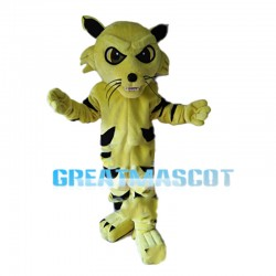 Seriously Yellow Tiger Mascot Costume