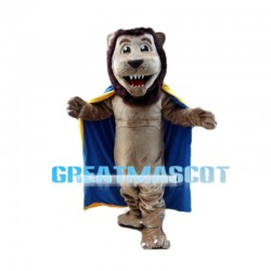 Affable Lion King With Cloak Mascot Costume