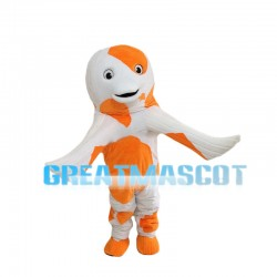 Orange & White Dolphin Mascot Costume