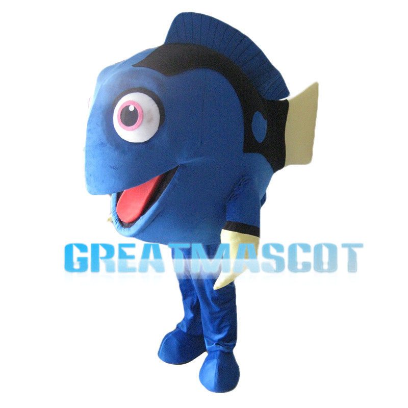 Blue Female Fish Dory Mascot Costume