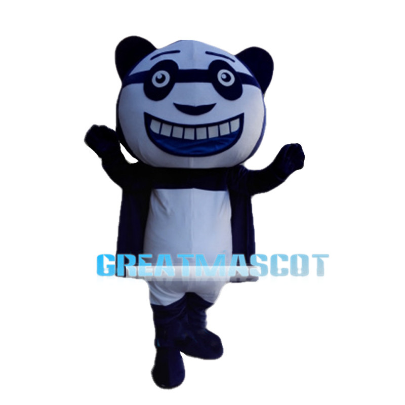 Big Mouth Panda Man Mascot Costume