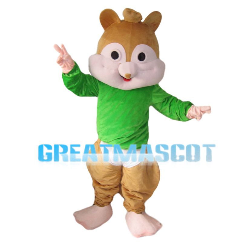 Fat Chipmunk Theodore Mascot Costume