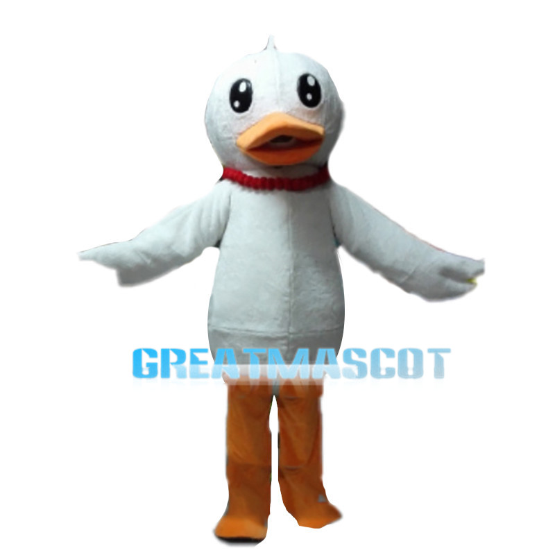Long-legged Duck With Red Necklace Mascot Costume