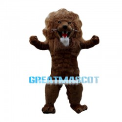 Muscle Lion With Wavy Mane Mascot Costume