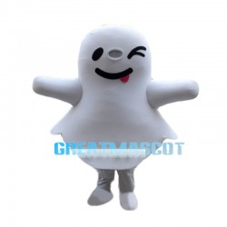 Likable White Sunny Doll Mascot Costume