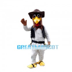 Passionate Knight Eagle Mascot Costume
