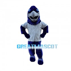 Energetic Blue Eagle Mascot Costume