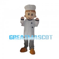 Bakers Boy With Hat Mascot Costume