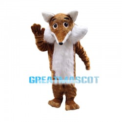 Cunning Brown Fox Mascot Costume