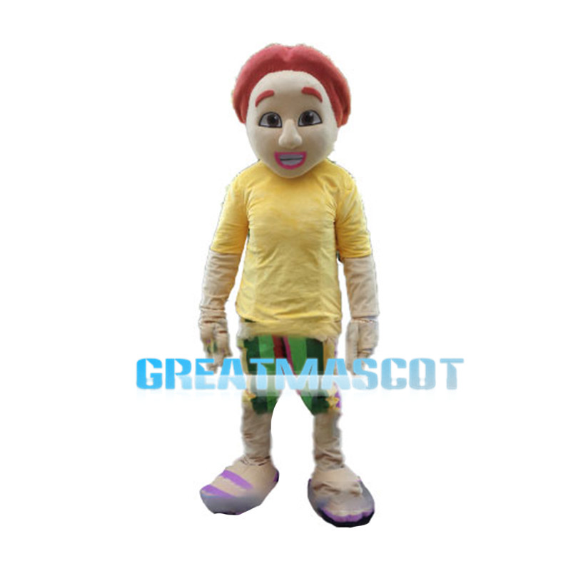 Strange Man With Pink Lips Mascot Costume