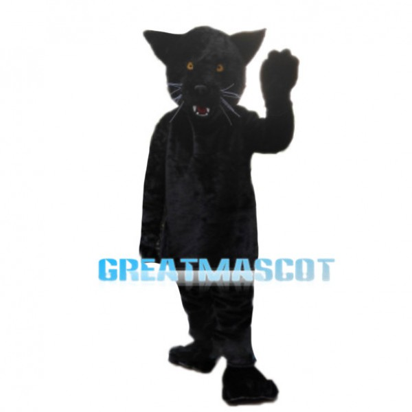 Running Fast Black Panther Mascot Costume