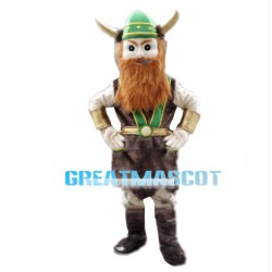 Confident Warrior With Brown Beard Mascot Costume
