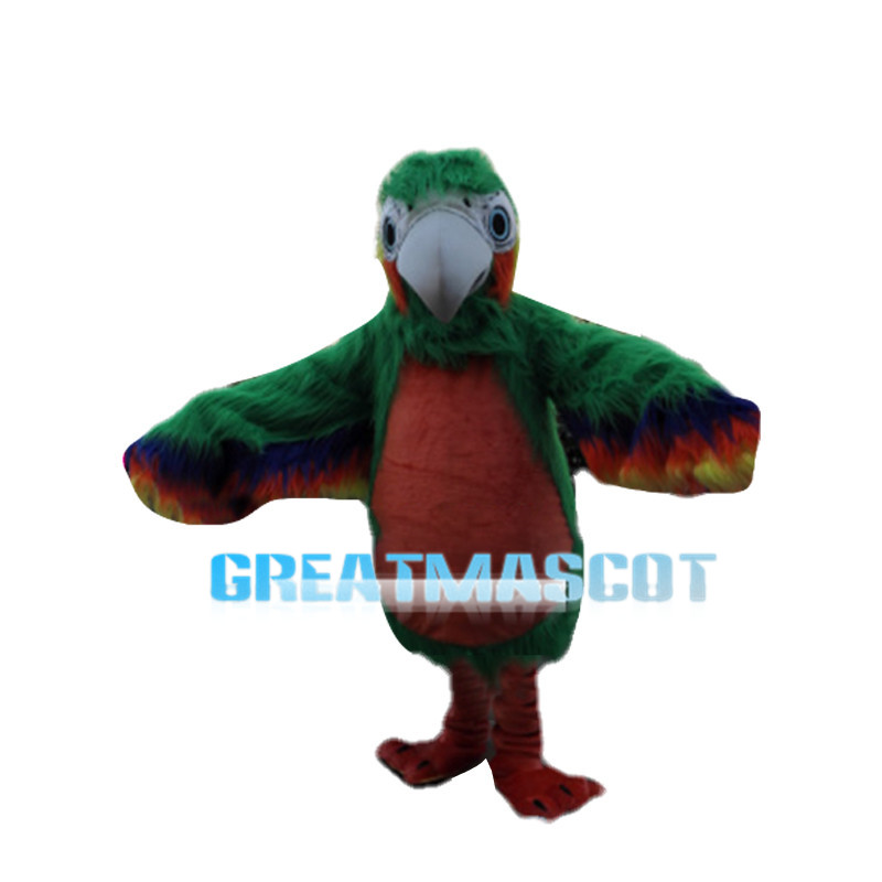 Green & Orange Woodpecker With Soft Fur Mascot Costume