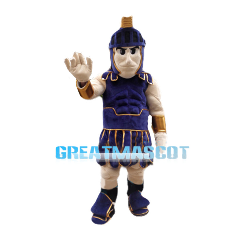 Polite Muscular Soldier Mascot Costume