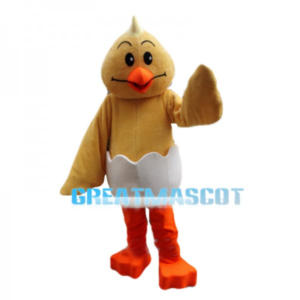 Cracked Little Chicken Mascot Costume