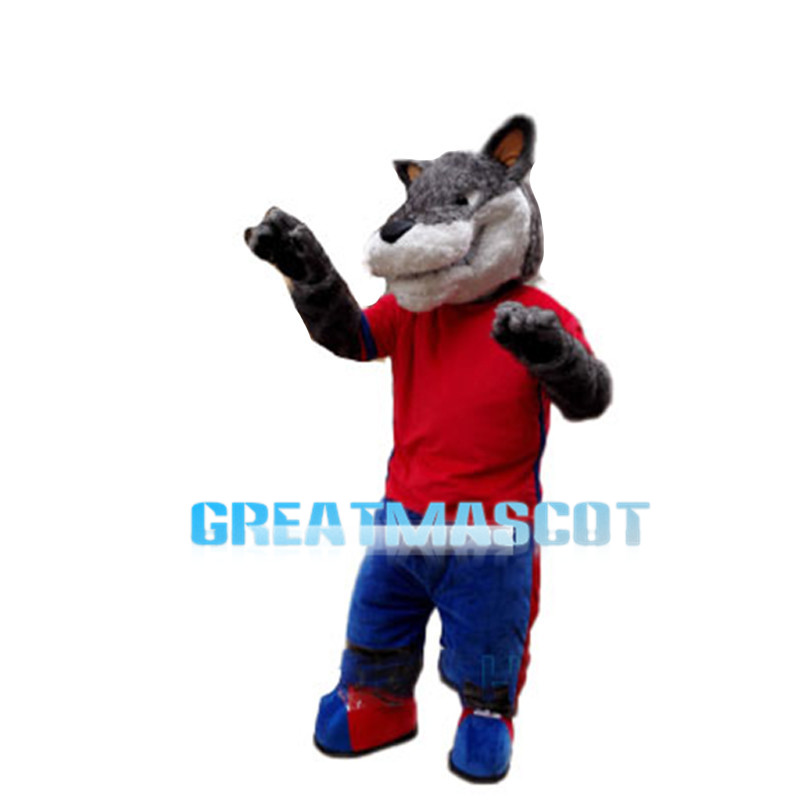 Vigorous Athlete Wolf Mascot Costume