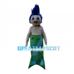 Blue Hair Mermaid Witch Mascot Costume