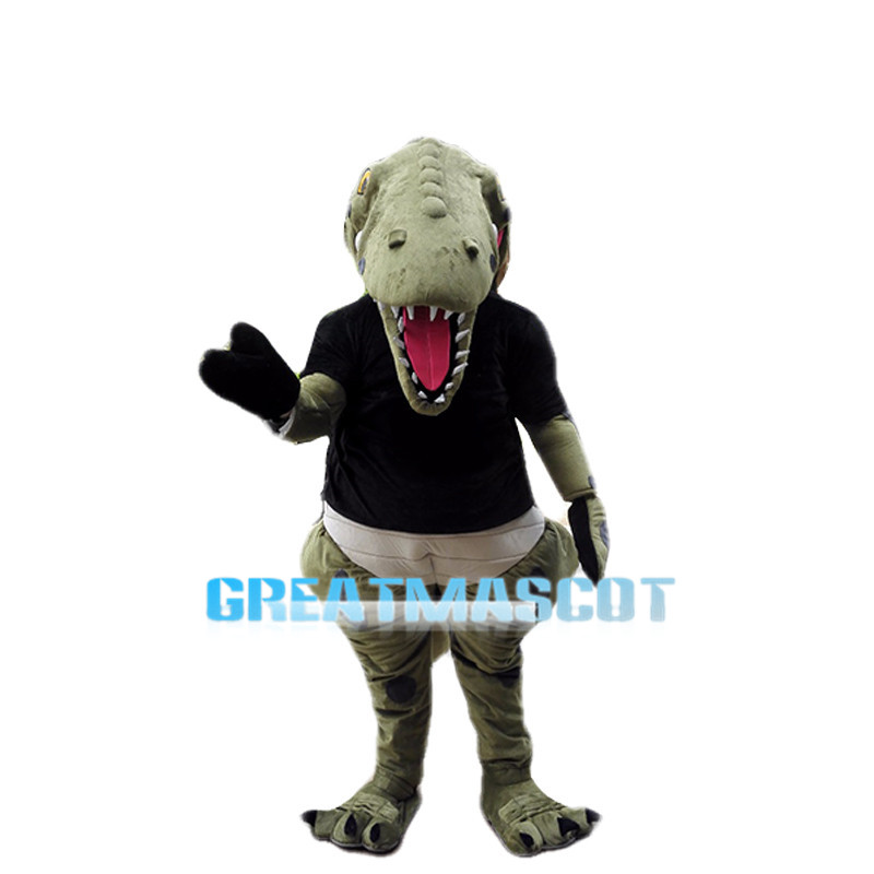 Thin Teeth Green Crocodile Mascot Costume