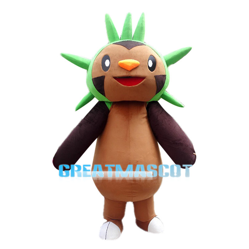 Japanese Cartoon Pokemon Chespin Mascot Costume