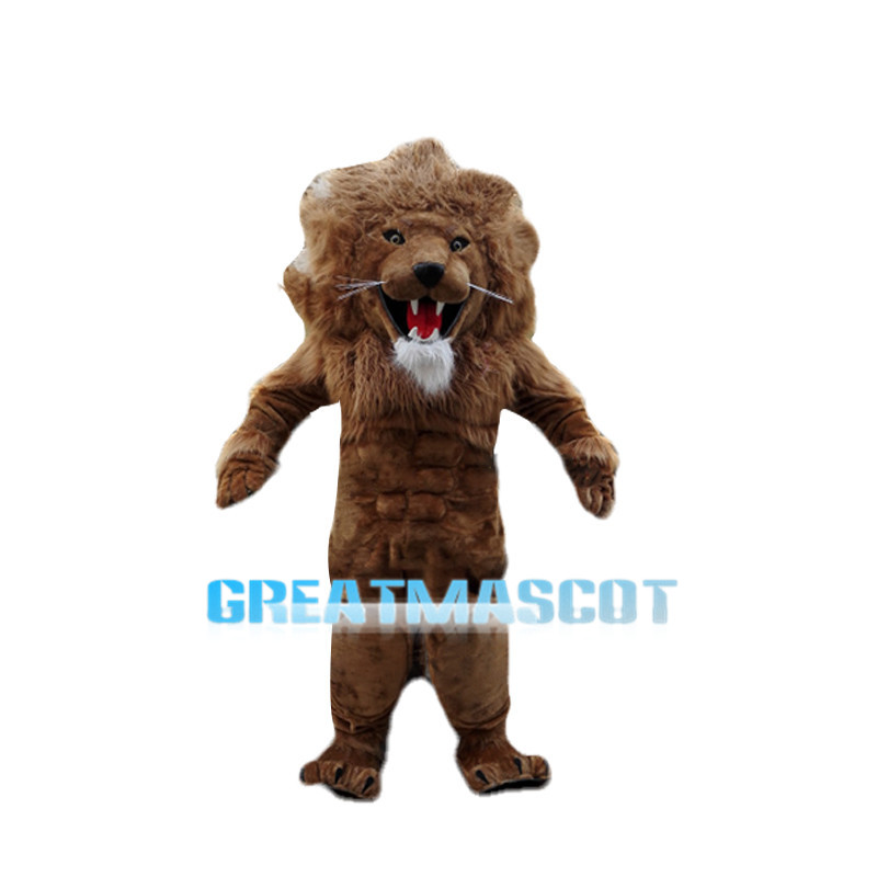 Howling Power Lion Long Plush Mascot Costume