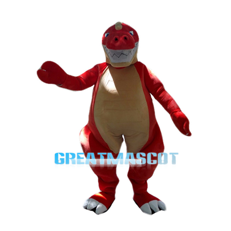 Red Crocodile Mascot Costume