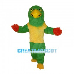 Long Plush Green Bird Mascot Costume