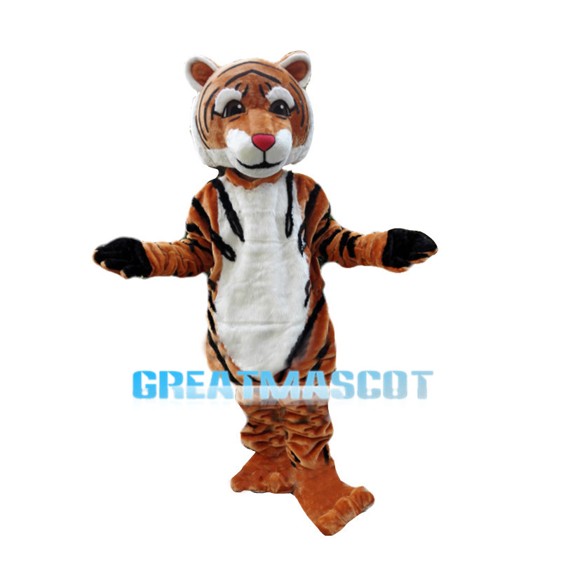 Friendly Tiger Animal Mascot Costume