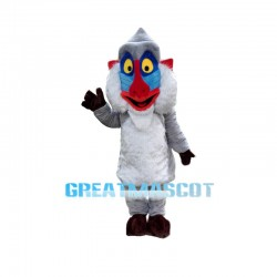 Grey Mandrill Monkey Animal Mascot Costume