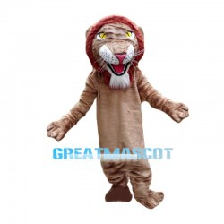 Red Hair Lion Animal Mascot Costume