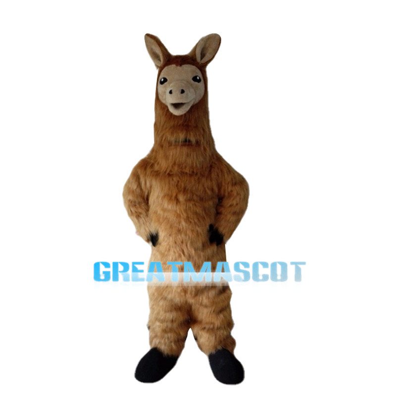 Brown Alpaca Animal Mascot Costume