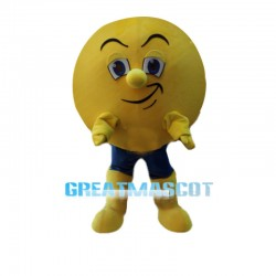 Smug Cartoon Yellow Orb Mascot Costume